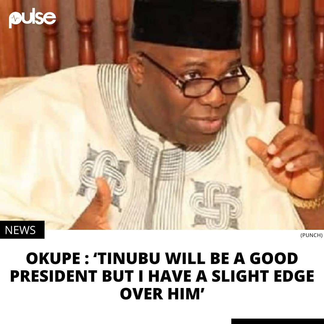 Okupe says Tinubu understands Nigerian politics but he'll defeat him in a presidential contest. . Former presidential aide, Doyin Okupe says he would defeat the National leader of the All Progressives Congress (APC), Asiwaju Bola Ahmed Tinubu if both of them are presented as presidential candidates by their parties for the 2023 presidential election. . Okupe, in a series of tweets on Sunday, March 8, 2021, commented about his chances in the 2023 presidential election while acknowledging Tinubu's mastery and understanding of Nigerian politics. .