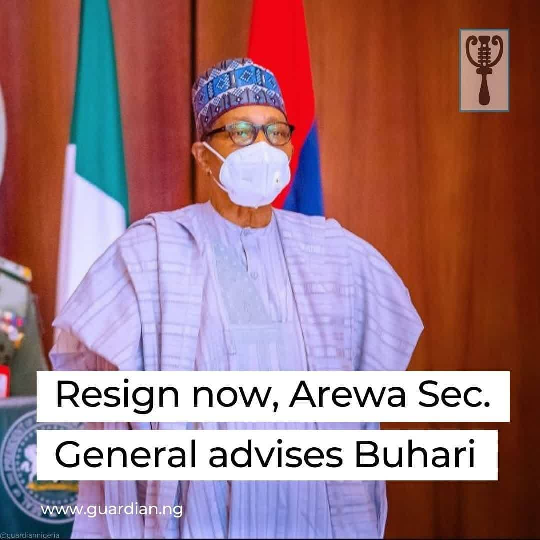 """Secretary-General, Arewa Community in Delta State, Alhaji Muktar Usman, has urged President Muhammadu Buhari to resign from office with immediate effect for running the country aground.  Speaking in an interview with The Guardian in Asaba, yesterday, Usman said: """"President Buhari has failed woefully in all aspects – security, economy, education and others. His government is the most corrupt since Nigeria attained Independence. President Buhari has failed us in all aspects. Honestly, let him resign now because he is incompetent to rule the country. Many Northerners want him to go so that somebody else can take over the country's mantle of leadership before he plunges us further into hell.""""  Lamenting the country's sorry state, he said, """"Take a look at the corruption in Nigeria, kidnapping and killings, among other heinous crimes in Zamfara, Benue, Kaduna, Niger, some Western states and even Katsina, his home state. You will agree with me that the President has nothing more to offer.""""  He recalled that Buhari promised heaven and earth while seeking power. Some of the pledges include youth empowerment, securing the nation against terrorism and banditry, but today, none of the promises has been fulfilled.  """"Nigerians are dying in silence, but pretending that all is well, whereas you and I know that many people cannot afford to buy rice in the market,"""" he said. """"Some families cannot even afford garri that used to be the cheapest foodstuff in the market. We are indeed hungry."""" """