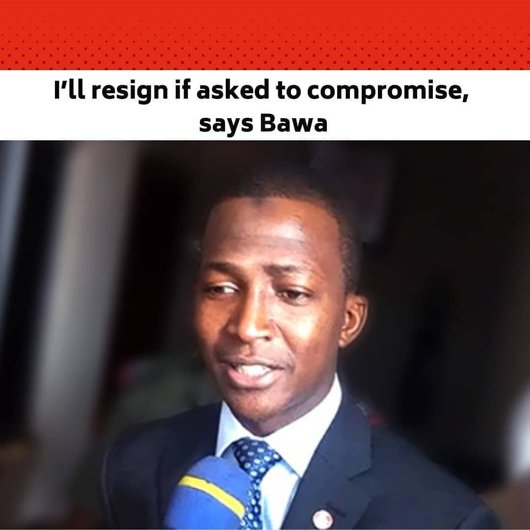"""The Chairman of the Economic and Financial Crimes Commission, Abdulrasheed Bawa, has said that he will resign if he's asked to compromise. .  This is as he vowed to ensure that Nigeria gets rid of corruption, saying the """"rule of law and fear of God shall be his guiding principles."""" .  The EFCC boss said this on Friday, March 26, 2021, when he featured in aNigerian Television Authorityinterview programme One-on-One. .  His words were disclosed in a statement titled 'We'll rid Nigeria of corruption – Bawa Vows,' which was issued on the officialTwitterhandle of the EFCC. .  """"We need to change our attitudes in Nigeria,"""" Bawa was quoted to have said. .  """"We are in the habit of worshipping people that have money in the society, but never bother to ask questions about their source of income. In winning the fight against corruption, we are engaging all stakeholders including religious leaders, community leaders and others. .  """"We are going to embark on massive public enlightenment to sensitise people on the need to shun corruption in all its forms."""" .  The EFCC boss continued, """"I will continue to do what is right. .  """"The Commission under my watch will continue to abide by the rule of law. If anybody asks me to do anything contrary to my conscience or against the rule of law, I will resign my appointment."""" .  He stated that fighting corruption was an onerous task that should not be left in the hands of EFCC alone and urged Nigerians to stop glorifying corruption and corrupt people in the society. .  The EFCC boss vowed that the Commission under his watch would not relent in its determined efforts to bringing all corrupt elements, high or low in this country to justice. .  """"We have just created Directorate of Intelligence. .  """"We need to re-engage ourselves with all our stakeholders in the fight against corruption because this is something we cannot do alone, all hands must be on deck,"""" he said. .  On the directive that all bankers should declare their assets before June 1, """
