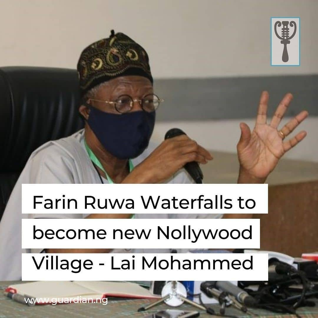 "The Minister of Information and Culture, Alhaji Lai Mohammed says with the scenic description and beautiful vegetation of Farin Ruwa Waterfalls in Nasarawa state, the site will soon become another Nollywood village.⁣ ⁣ The minister said this on Saturday in Lafia during a courtesy visit to Gov. Abdullahi Sule of Nasarawa state.⁣ ⁣ The News Agency of Nigeria (NAN) reports that the minister is on a two-day visit to the state for the inspection of Farin Ruwa Waterfalls site to showcase the state's tourism and investment potential.⁣ ⁣ In the entourage of the minister were the Directors-General of the National Institute for Hospitality and Tourism (NIHOTOUR), Alhaji Nuhu Kangiwa, and Nigeria Tourism Development Corporation, Mr Folorunsho Coker.⁣ ⁣ Also on the minister's entourage are the Special Advisers to the President attached to the minister, Mr Segun Adeyemi and Mr Williams Adeleye, and a team of journalists.⁣ ⁣ ""I have no doubt in my mind that with proper promotion, we will turn it around and make it the destination for film and music producers.⁣ ⁣ ""We will also create around the area, a resort and a destination of the tour for vacation and holiday makers,'' he said.⁣ ⁣"