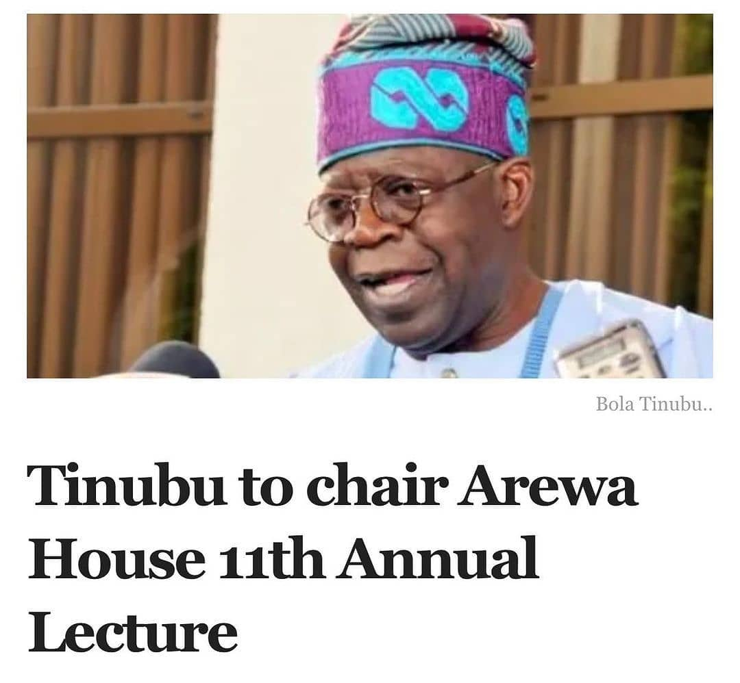 """The national leader of the All Progressives Congress, Bola Tinubu, will chair the 11th Annual Lecture in honour of the late Premier of Northern Nigeria, Ahmadu Bello, organised by Arewa House.  Shaibu Aliyu, director of Arewa House, a research facility under Ahmadu Bello University, said the lecture will hold on Saturday, March 27 in Kaduna.  Mr Aliyu said at a press briefing in Kaduna on Thursday that the theme of the lecture is, 'Governance and Youth Inclusion in Nigeria's Development, Post COVID-19 Era'.  The director said Governor Simon Lalong of Plateau will serve as the Guest Speaker.  According to him, the governor is expected to share his experience of governing Plateau and managing its conflicts.  Mr Aliyu said the annual lecture remains a platform to discuss social and economic issues affecting the country.  """"One of the major objectives of Arewa House is to promote national harmony and national unity, the lecture will serve as an avenue to reflect and discuss the history and cultures of the country,"""" he said.  According to him, COVID-19 protocols would be strictly observed while issues around the cost of governance will also be discussed.  He said the former governors that established Arewa House will be honoured at the event. They include Abba Kyari, Musa Usman, Usman Faruk, JD Gomwak, and Audu Bako. (NAN)"""
