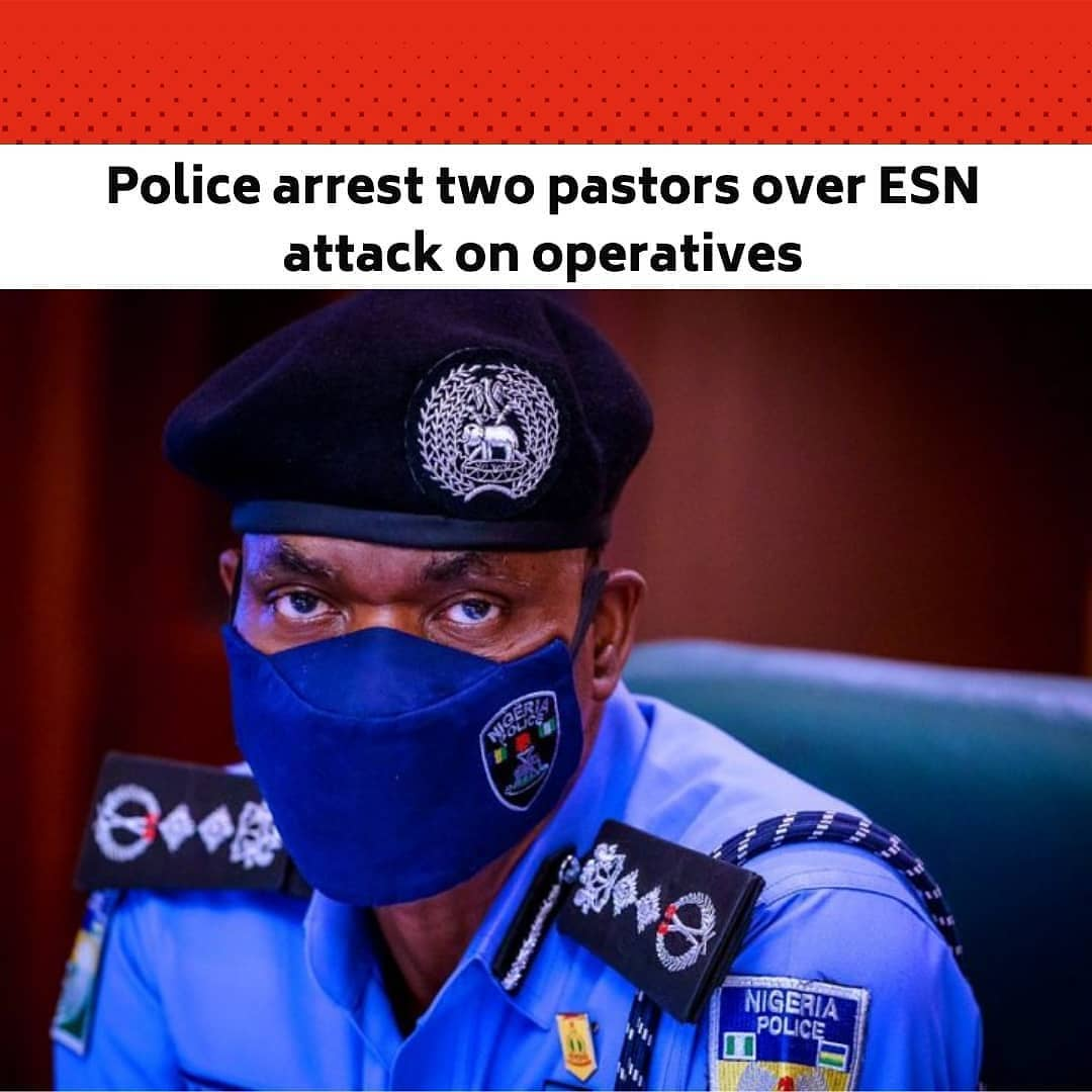 """The Nigeria Police Force has arrested two pastors in connection to the recent attacks on operatives in the South-East region. .  The pastors are among 16 suspects arrested in a joint operation by operatives of the police, the Nigerian Army and the Nigerian Air Force. .  According to Force Public Relations Officer, CP Frank Mba, some of the suspects confessed to being members of the Indigenous People of Biafra and the Eastern Security Network. .  Mba said, """"The arrest, which is an outcome of painstaking, deliberate and tireless efforts by operatives of the Nigeria Police working in collaboration with their counterparts from the Nigerian Army and the Nigerian Air Force is aimed at bringing to justice persons responsible for the emerging trend of attacks on security personnel and wanton destruction of security facilities and operational assets. .  """"The suspects – Ugochukwu Samuel a.k.a Biggy, a 28-year-old native of Arochukwu LGA in Abia State; Raphael Idang, 31-year-old native of Odukpani LGA of Cross River state; Cletus Nwachukwu Egole aka 'Alewa', 60-years-old native of Orlu in Imo State; Michael Uba, 33yrs from Imo State; and twelve (12) others in the course of investigation, were implicated in multiple felonies committed across several states in the South-Eastern part of the Federation. The suspects were arrested in various parts of the country following sustained, and intelligence-driven sting operations. .  """"Police investigations clearly established and linked the suspects to several incidents of attacks and murder of security personnel as well as stealing, unlawful possession of firearms, arson and malicious damage to operational assets of military and law enforcement agents. .  """"Specifically, investigations revealed that the duo of Ugochukwu Samuel, aka Biggy and Raphael Idang were among the criminal elements that attacked policemen on duty at a checkpoint on 24th December 2020 along Orlu-Ihiala Road in Imo state where two police officers were killed and a pol"""