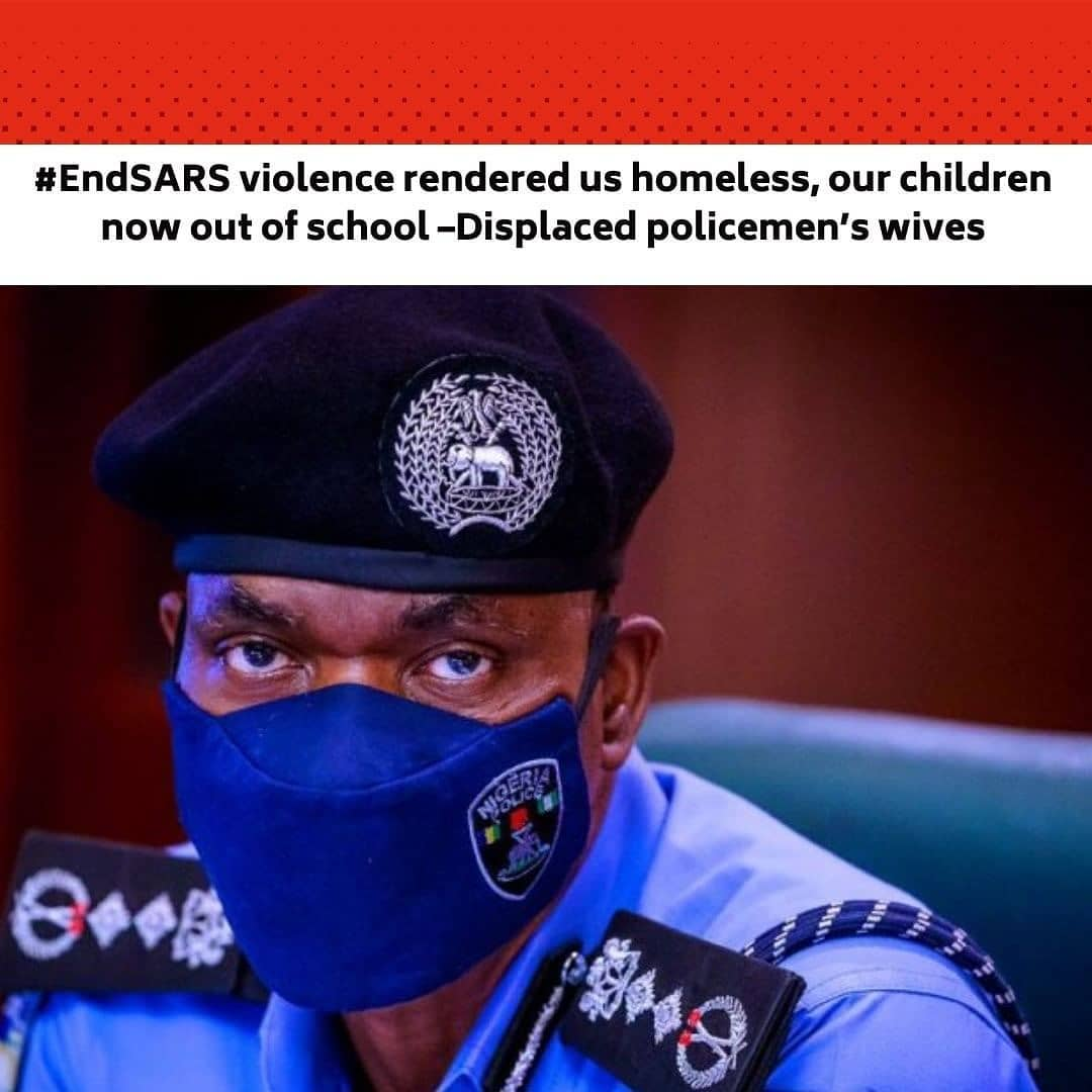 """The past five months were never the kind of life Osanya Ambrose dreamed of. She found herself in such a precarious situation after the violence that greeted the protests in October, 2020 in several places in Lagos and other southern states, violence rocked Makinde Barracks, Oshodi, Lagos, where she lived with her parents. . Fifteen-year-old Osanya, her two older siblings, their parents and several other families were displaced after hoodlums freely looted the 24-flat barracks and set it ablaze. . The thugs reportedly killed a university student identified simply as Okechukwu, 21, and gang-raped a young sick woman who could not run to safety. . Like every other family, the Ambrose lost almost all their belongings and relocated to a relative's house in Ipaja – about 17 kilometres away from the barracks. . Since then, Osanya, a Senior Secondary School 2 pupil at Mafoluku Grammar School stopped schooling due to the distance and the cost of daily transport fare which her parents couldn't afford. . """"We lost everything,"""" Osanya's mother, Mrs Janet Ambrose, said painfully. """"She could no longer go to school. My husband is a serving policeman. We spend all the money he gives us on feeding."""" . Janet said she used to sell drinks to support her husband in the family upkeep but she lost her capital to the attack. . She said, """"It was some people who gave us a few clothes to use.  We are appealing to the state governor, Babajide Sanwo-Olu, to assist us. Most of our children who are in primary and secondary schools can no longer go to school. . """"Some of them now sleep in churches and mosques with their mothers. The government should help us renovate these barracks so that we can come back and our children can go back to school. We have lost everything."""" . Our correspondent who visited the barracks on Monday observed that it was still in shambles despite promises by the government and police authorities to assist the displaced residents. . The only visible 'development' is some of th"""