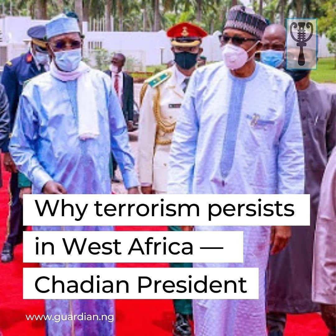 """The President of Chad Republic, Marshal Idris Deby Itno, yesterday, decried terrorism in the continent, stating that the crusade against the menace in the Lake Chad Basin and the Sahel region of Africa has not been adequate.  President Itno was at the Presidential Villa, Abuja, on a one-day official visit, during which he held bilateral discussions with President Muhammadu Buhari.  Fielding questions from newsman after the meeting with the Nigerian President, Itno said that the four countries sharing the Lake Chad Basin had put together a formidable military formation, the Multinational Joint Task Force (MNJTF), to stamp out terrorism in the region, but lamented that the formation had not been carrying out enough required operations.  According to him, he discussed the situation at the MNJTF with President Buhari, saying a situation where the joint military outfit embarks on just one operation in a whole year had made the fight difficult and defeating the terrorists rather impossible.  Nevertheless, he expressed confidence that with the new strategies being deployed and new officers with fresh ideas being assigned to take over commands at both national and regional levels, the defeat of the various terror groups, including Boko Haram and the Islamic State, West African Province (ISWAP), would be addressed permanently.  """"However, with the new security apparatus that has been put in place with the new security chiefs and not only in Nigeria but even on the Multinational Joint Task Force itself, which also has new leadership, we're hopeful now that with new strategies and dynamism, we'll be able to address definitively the issue of Boko Haram. """
