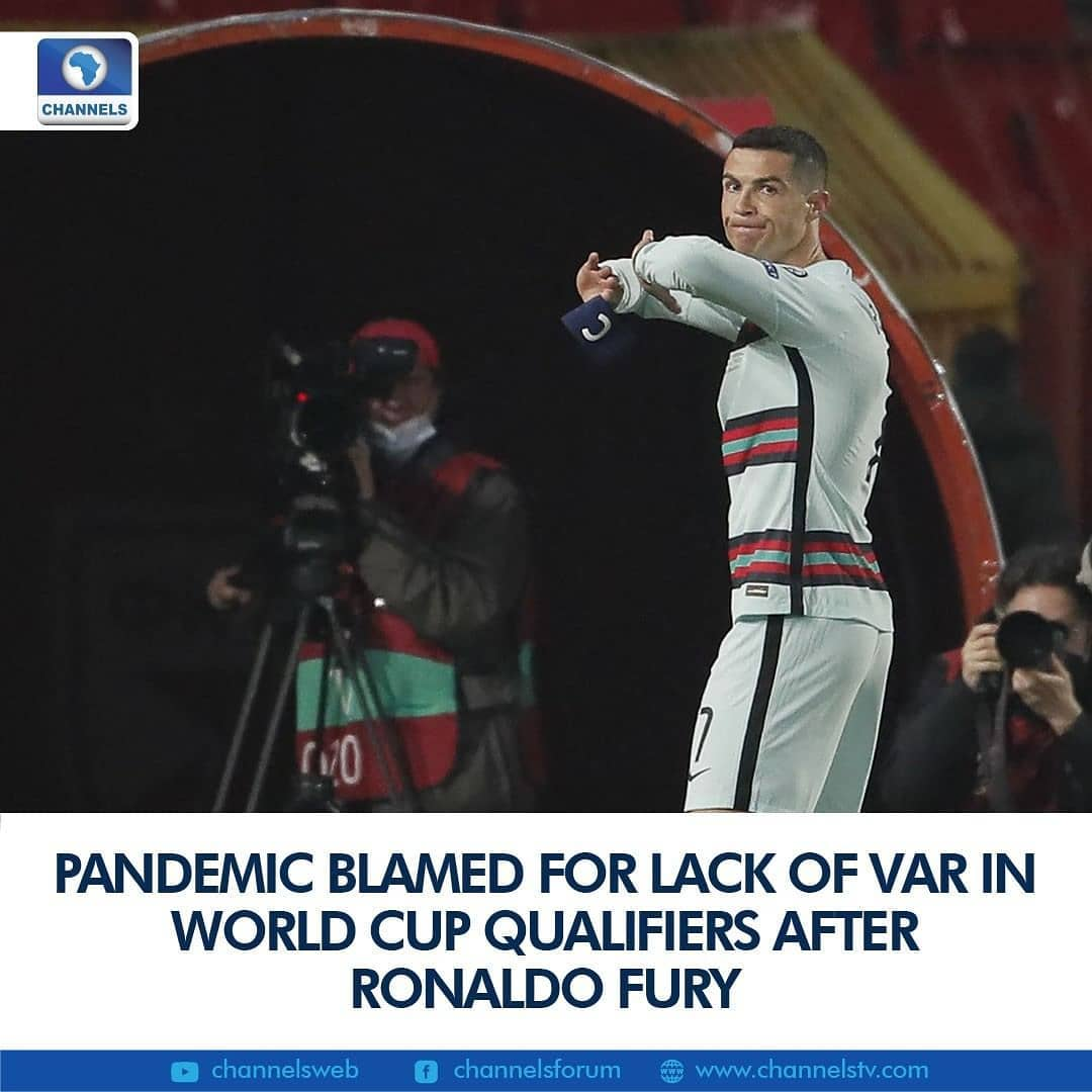 """UEFA has said the impact of the Covid-19 pandemic meant plans to use VAR in the European 2022 World Cup qualifiers had to be abandoned after a weekend in which Cristiano Ronaldo's anger at being denied a late winner for Portugal against Serbia highlighted the lack of technology to help officials.  """"In 2019, UEFA had proposed to FIFA the implementation of VAR in the current World Cup qualifiers. The impact of the pandemic on operational and logistical capabilities led UEFA to delay the implementation of VAR in the Europa League group phase as well as to withdraw the proposal to implement VAR in the 2022 European qualifiers,"""" UEFA said in a statement.  Video assistant referees are now set to come into the Europa League group stage as of next season.  """"VAR was also not in use in the UEFA Nations League group stage in the autumn of 2020 and has therefore to-date never been used in UEFA national team qualifying group stage matches,"""" European football's governing body added.  It follows several moments of controversy since the start of qualifying last week for the Qatar World Cup, with the Ronaldo flashpoint casting a light on the lack of any goal-line technology (GLT).  Ronaldo thought he had scored a stoppage-time winner for Portugal in Belgrade as footage appeared to show the ball had crossed the line before Serbia defender Stefan Mitrovic could clear.  The Portugal captain was booked for protesting by Dutch referee Danny Makkelie as play was waved on and the game finished in a 2-2 draw. Ronaldo threw away his captain's armband in disgust at full-time.  """"I always give and will give everything for my country, that will never change. But there are difficult times to deal with, especially when we feel that an entire nation is being harmed,"""" Ronaldo later posted on Instagram.  Portuguese sports daily A Bola on Monday published an interview with Makkelie in which the official said he had apologised to coach Fernando Santos and the Portugal team."""