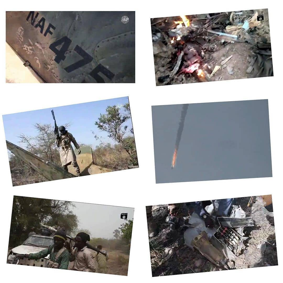 "Boko Haram claims responsibility for missing NAF fighter jet  . . The Boko Haram sect has claimed responsibility for the missing Jet of the Nigerian Air Force (NAF). A jet deployed against the sect in Borno State evening lost contact with radar on Wednesday evening. . . Edward Gabkwet, spokesperson of NAF, had disclosed the identities of the pilots but said their whereabouts were unknown. But on Friday, Boko Haram released a video of the destroyed jet. . . The video, which credible sources released to Daily Trust, showed the corpse of one of the dead pilots. In the seven minutes, thirty seconds footage, Boko Haram fighters were seen moving along a dusty road, in gun trucks and on motor bikes. The video showed that the aircraft exploded in the air before it crashed. . . Towards the end of the footage, a masked insurgent climbed a wreckage of the aircraft and pointed his gun into the sky. ""The Nigerian Air Force jet fighter with plate number 475 was sent to Sambisa to fight the Mujahideen. . . ""There's no one that can fight God. This is the evidence of what God has done. There's no way you will fight his people and this will not happen. The only way for you now is to repent. That's the only way out,"" he said in impeccable English. The military is yet to react to the claim of the insurgents. 📸: HumAngle"
