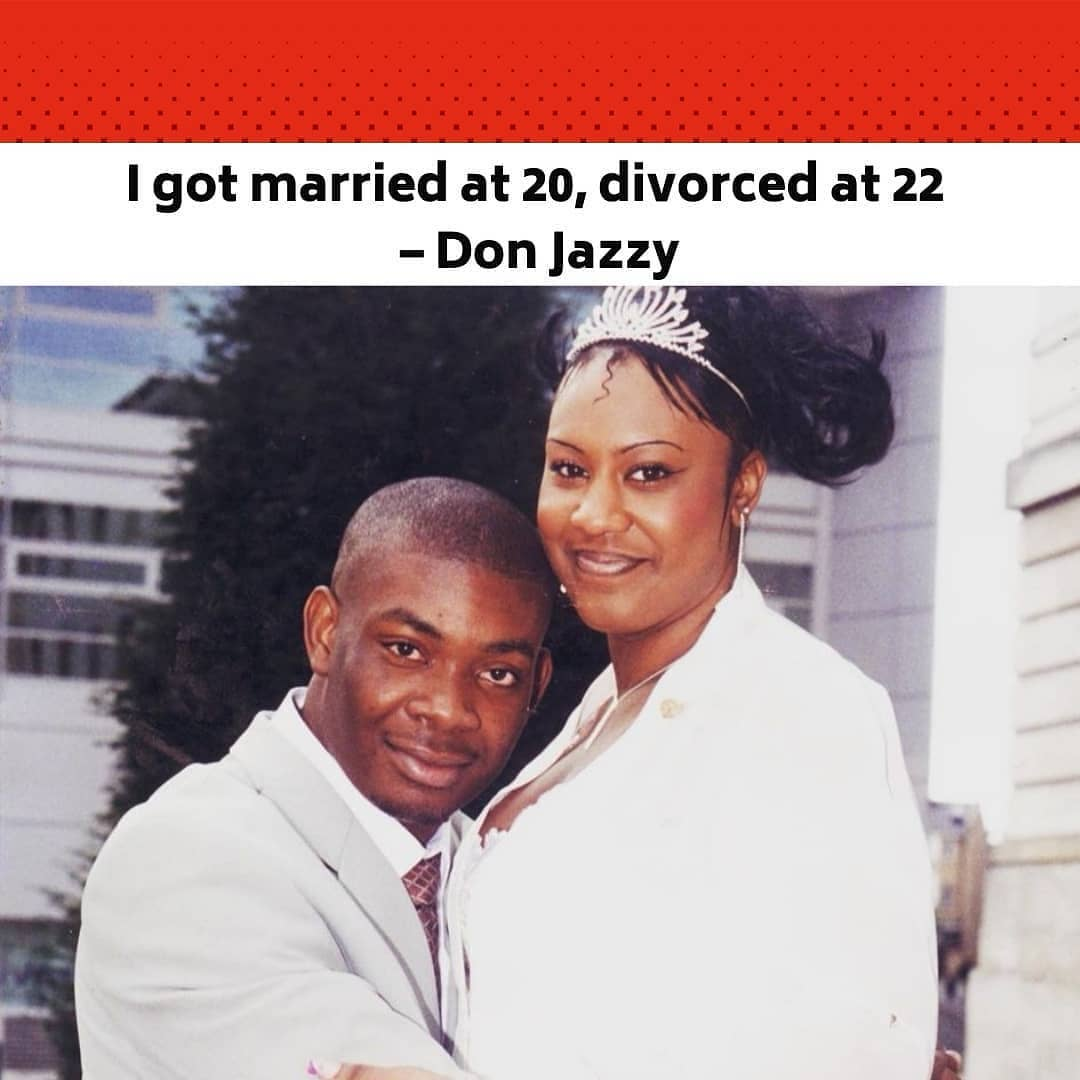 """Popular beatmaker, Don Jazzy, has revealed that he got married 18 years ago to an American model and writer, Michelle, but got divorced two years after.  The Mavin boss posted his wedding picture, which showed the couple in a warm embrace on his verifiedInstagramaccount and explained that he got divorced because he made music his priority.  He wrote, """"For so long, everyone keeps asking me when am I getting married? Well, the truth is almost 18 years ago, I was 20 and I got married to my best friendMichelle@yarnstaswitchand it was beautiful. I loved love and I loved marriage. Michelle is soooo beautiful inside and outside with such a soft heart. But then, me being so young and full of dreams, I went and messed it up cos I was giving all my time to my music.  """"Music became a priority instead of my family. We got divorced when I was 22 and it hurt. I am still very much in love with my music and I wouldn't want to marry another and mess it up again. So, I'm taking my time.  """"Why am I just saying this now?? I really like to keep my relationships private, actually; past or present. But I was watching the bounce interview with Ebuka, which is almost like a tell-all interview, and I felt bad skipping this huge part of my life. So yeah, make una no vex o."""" (sic) --"""