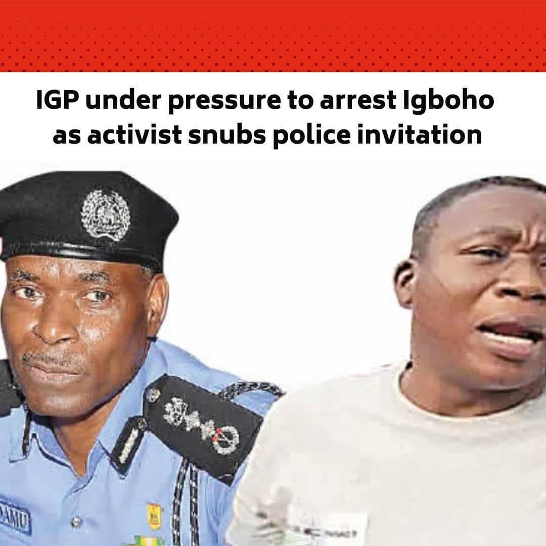 "The Inspector-General of Police, Mohammed Adamu, is believed to be under serious political pressure to arrest Yoruba rights activist, Sunday Adeyemo, aka Sunday Igboho, for calling for the secession of the Yoruba from Nigeria.  . It was learnt that the police may again attempt to carry out a covert operation to take Igboho into custody having failed to arrest him last month. . Findings indicate that the police authorities are in a dilemma on how to contain the activist who has been demanding the secession of the Yoruba from the country, following the failure of the Federal Government to curb the insecurity in the South-West. . Security sources said the police are being careful not to upset the delicate security situation  in the South-West, which may become aggravated if Igboho is forcefully arrested. . This, Saturday PUNCH gathered, informed the decision of the police to invite Igboho. . A senior police officer, who spoke to one of our correspondents on condition of anonymity, said, ""The IG has been under political pressure to arrest Igboho but some leaders from the South-West have also advised against Igboho's arrest to avoid throwing the region into chaos. Igboho has a large following which may react violently if he is arrested. The police authorities are in a dilemma over the issue but I think the IG succumbed to pressure from government hawks who are uncomfortable with Igboho's trenchant calls for the disintegration of the country."" . The activist had on Friday confirmed that the IG sent letters to him but his security team refused to accept the letter, citing fear for his safety. . In a statement by his media aide, Olayomi Koiki, Igboho said a letter was sent to him on Thursday via courier service while another was brought to his residence by about 15 policemen. . The statement read, ""We would like to tell the international community and every Nigerian that this morning, 1st of April, 2021, a letter was sent via DHL to Chief Sunday Igboho but the letter was not received by his security team. --"